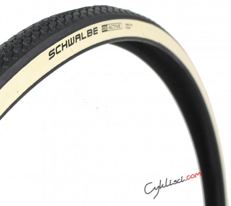 Opona 27x1 14 Schwalbe HS159 whitewall biały bok
